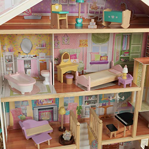 KidKraft Grand View Mansion Dollhouse with Ez Kraft Assembly, Multicolor