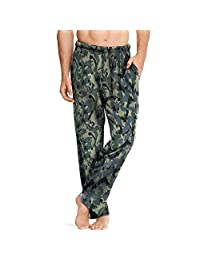 Hanes mens Hanes Men's Comfortsoft Cotton Printed Lounge Pants