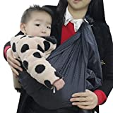 Breathable Mesh Adjustable Baby Wrap Water Ring Sling Carrier Infant,Toddlers Perfect Baby Shower Gift with Polyester and Quickdry POLYESTER Fabric Material to Indoor Outdoor Travel for Newborn (Gray)