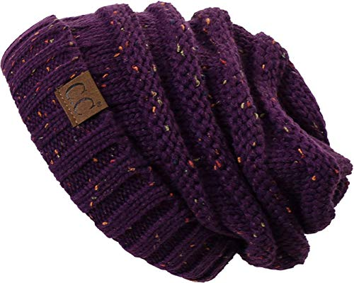 H-6100-2040 Funky Junque Oversized Beanie - Purple (Confetti)