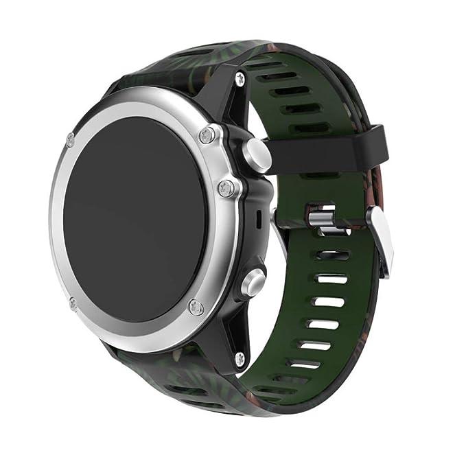 Bestow Garmin Fenix 3 Reloj GPS Silicagel Banda Suave Banda de Reloj Reloj Elegante Reloj de Pulsera de aparatos electr¨®nicos Gadgets