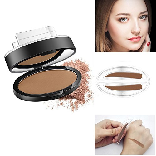 Natural Straight United Eyebrow Stamp Seal New Brow Powder Palette Makeup In One Second Light Brown