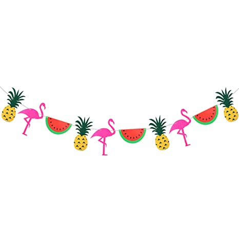 Banners, Streamers & Confetti Summer Party Decoration Pineapple Banner Home Decorative Hanging Garlands Party Pineapple Fruit Bridal Show Pool Party Deocr High Resilience Home & Garden