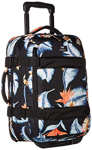 Roxy Junior's Wheelie Suitcase, Anthracite Tropical Love Sample, - Carry On Roxy