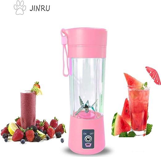 JINRU Licuadora portátil, Fruta, batido, máquina mezcladora de ...