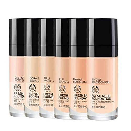 The Body Shop Fresh Nude Foundation 010 Chealsea Procelain - 30ml (Pack of 6)