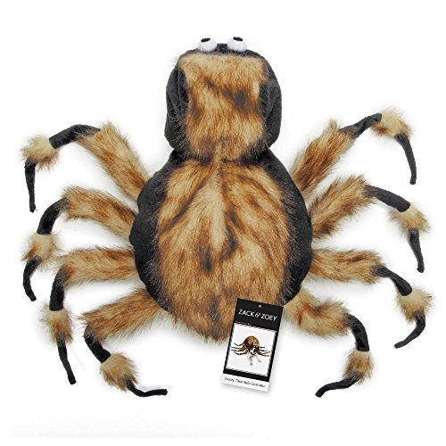 Extremely Scary Halloween Costumes (Zack & Zoey Fuzzy Tarantula Costume for Dogs, 16