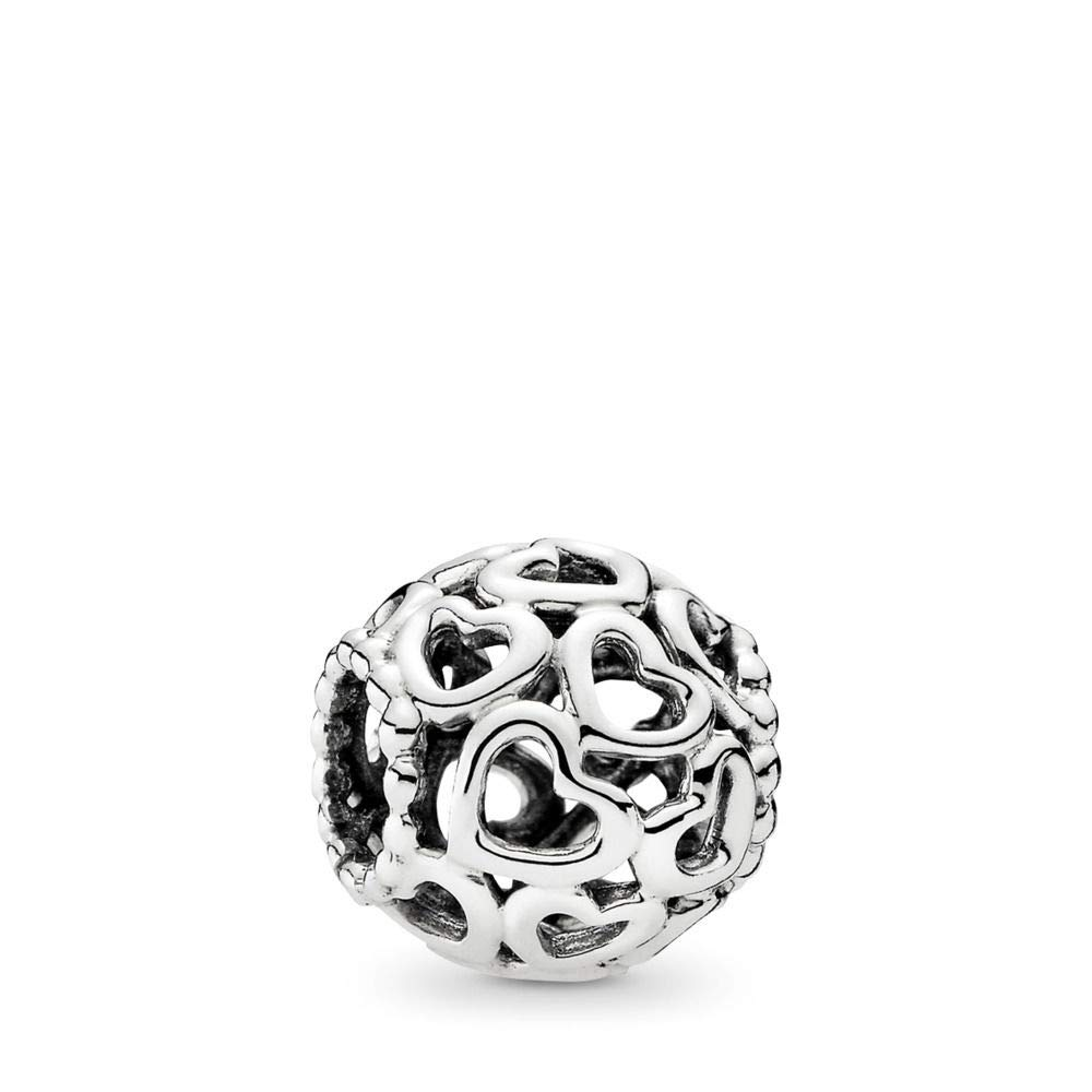 PANDORA Open Your Heart Charm, Sterling Silver, One Size by PANDORA