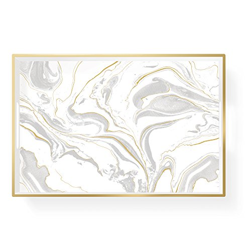 FRINGE STUDIO Pas Marble Small Lacquer Tray (703027)
