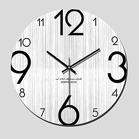 Moderno y minimalista moderno salón reloj de pared de madera nórdica creativo personalizado de madera reloj