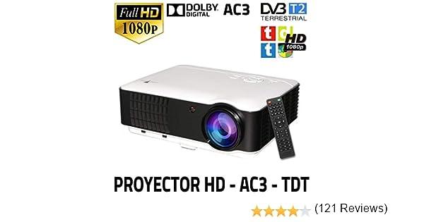 Proyector con tdt modelo SG100, soporta AC3, MKV, AVI HD, lampara ...