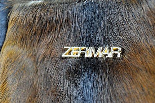 Zerimar Borsa a tracolla in pelle per donna Borsa a tracolla con grande capacità Pelle morbida Colore Marrone scuro Misure: 39x37x5 cm