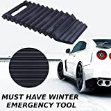 Traction Mat & Ice Scraper For Car 2 In 1 Tool – Traction Boards Ideal To Unstuck Your Car From Snow, Mud, Ice, Sand And As A Window Ice Scraper Emergency Tool, 1 Piece By Ideas In Life