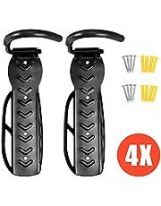 Voilamart 4PCS Vertical Bike Hook, Wall Mounted Bike Rack Stand Indoor Outdoor Bicycle Tyre Storage Holders (Max Load 66lb)