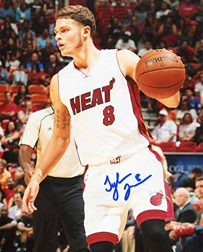 Miami Heat Photograph (Tyler Johnson Autographed Miami Heat 8x10 Photo)