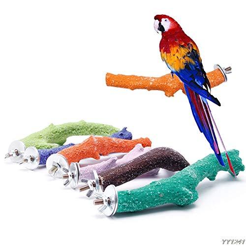 Perch Bird – Crude Branch Wood Pet Parrot Raw K Toy Hamster Perches Bird Cage Y110 – Bird Parrot Wooden Perch Feeder…