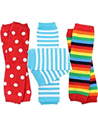 3 Pair Baby Boy And Girl Leg Warmers stripes, Polka Dot, Rainbow