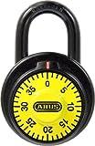 ABUS 78/50 C 2-Inch Locker Dial Combination Padlock, Yellow