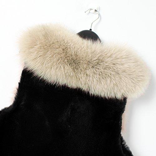 Manteau Manteaux Manches Clair Sans Chaudes Femme Gilet Fourrure Mode Fausse Vetements Synthetique Col Hiver Veste Automne Blousons Marron En Vlunt Artificiel WCRq06q