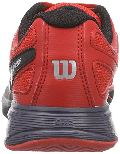 Rush Mixte de Wilson Multicolore Junior Chaussures Wilson Tennis Coal Red Enfant Wilson Pro Black Wilson Mehrfarbig YIxwpdd