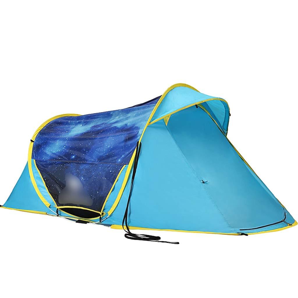 YaNanHome Zelt im Freien Zelt Keine notwendigkeit zu Bauen Geschwindigkeit öffnen Zelt Doppel regendicht Zelt 2  Herrenchen Wilden Camping Zelt Wandern Zelt (Farbe : Blau, Größe : 230  130  100cm)