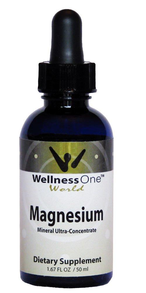 Magnesium - Premium Liquid Ionic Mineral 50 ml Bottle (100 days at 50 mg Per 10 Drop Serving)