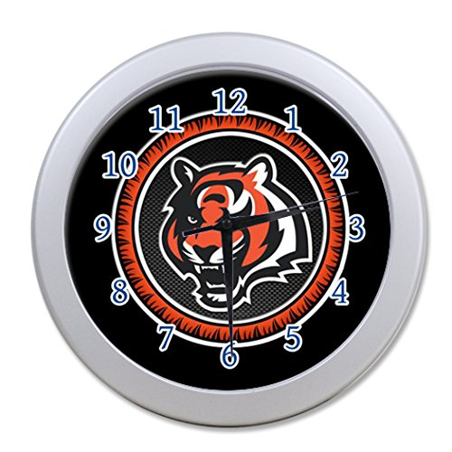 G-Store NCAA Louisiana State University Tiger Modern Decorative Arabic Numerals Round Analog (Louisiana State University Wall Clock)