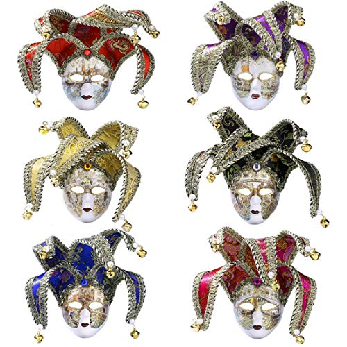 - YU FENG 6 Pcs/Set Carnival Party Decorations Mardi Gras Costumes Mask Mini Women or Men Masquerade Masks Venetian Mask for Carnival/Halloween/Christmas/Wedding/Home/Party Wall Decoration Supplies