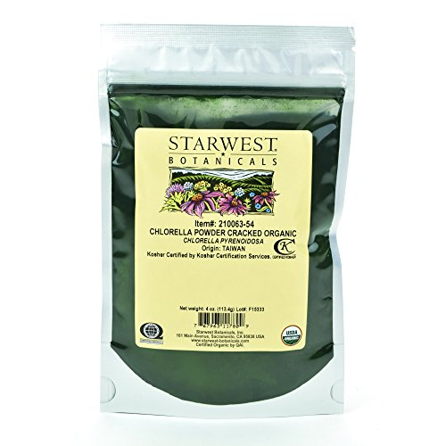 Starwest Botanicals Organic Chlorella Powder Cracked Cell Walls , 4 Ounces