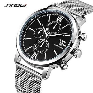 XKC-watches Relojes para Hombres, SINOBI Hombre Reloj Deportivo Reloj de Vestir Reloj de