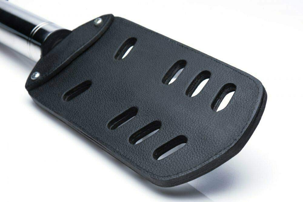 Leather Black Heavy Duty Paddle with Slots by Illuminaughty inc