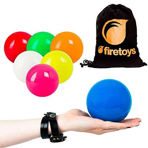 Large Juggle Ball - Play Sil-X 100mm Contact Juggling Ball + Firetoys Bag, (UV Pink)