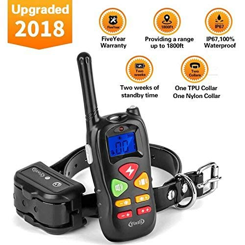 Yintlilocn Dog Training Collar Rechargeable and waterproof 1800ft Remote Dog Shock Collar with Beep, Vibra and Shock Electronic Collar for Small Medium Large dogs 6.6LB-120LB