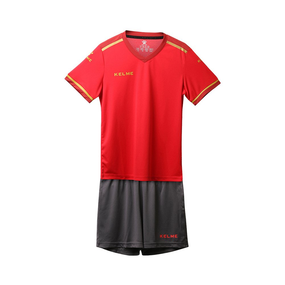 Kelme Kids Youth Home Soccer Jersey Uniform & Shorts Set