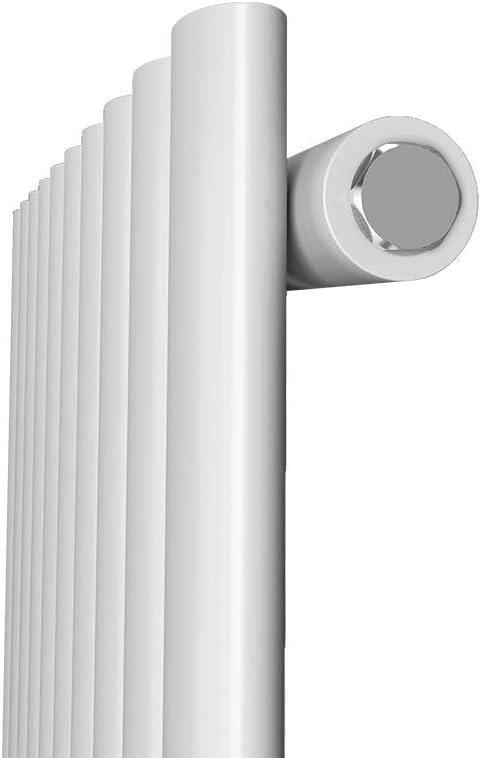 Design Heizk/örper Anthrazit Oval Vertikal Paneelheizk/örper 1800 x 480 mm Heizung Mittelanschluss Einreihig Wohnzimmer//Badezimmer Heizk/örper