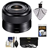 Sony Alpha E-Mount 35mm f/1.8 OSS Lens with 3 (UV/FLD/CPL) Filters + Kit for A7, A7R, A7S Mark II, A5100, A6000, A6300 Cameras