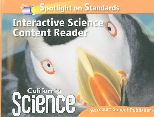 Harcourt School Publishers Science: Interactive Science Cnt Reader Reader Student Edition Science 08 Grade 3