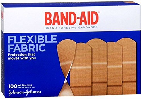 Flexible Fabric All One Size Adhesive Bandages 100 Each by Unknown