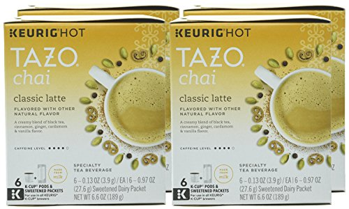 Tazo Classic Chai Latte, K-Cup for Keurig Brewers, 24 Count