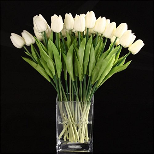 Real Touch - 20pcs Tulip Flower Latex Real Touch Kc451 - Plants Light Dolls Baby Stems Arrangements Teal Succulent Peonies Poppy Arrangement Gundam Dark Snap Kissing Artificial Real Cherry Ca