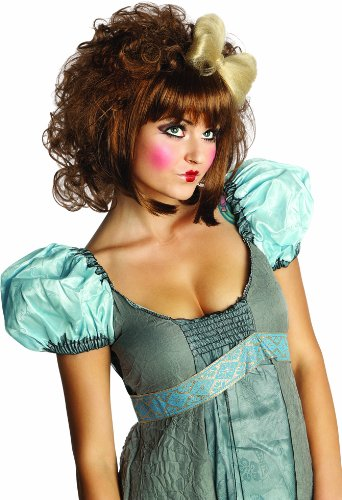 Rubie's Adult Cutie Doll Costume Wig, Brown, One Size -