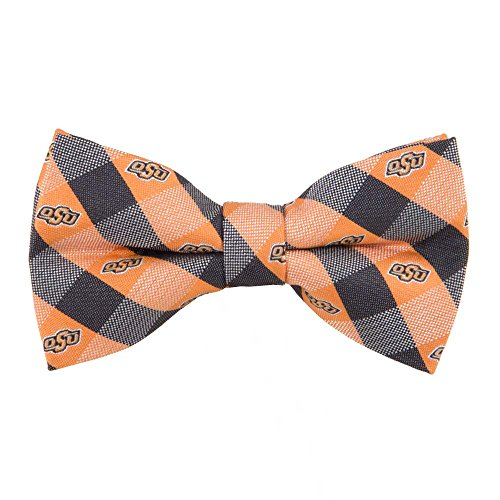 Oklahoma State Cowboys Checked Logo Bow Tie - NCAA College Team Logo