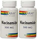 Cheap Solaray Niacinamide Capsules, 500 mg, 100 Count (Pack of 2)