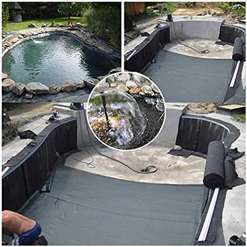 池の裏地魚の池防水布厚いプラスチックフィルム池のライナーHDPE膜小さなアヒルの池川の斜面の保護池のベッドライナーガーデンプール3x4m(Size:12x12m)