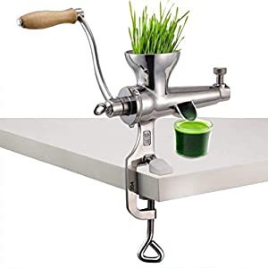 Manual Wheatgrass Juicer Stainless Steel Juicer Extractor Vegetable and Fruit Juicer Lemon Orange Squeezer Juicer Hand Press