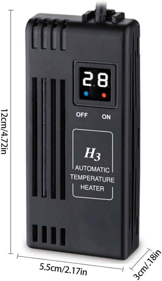 Enchufe de La UE VILLCASE 2 Unids//Set Calentador de Pecera con Term/ómetro 50 W Calentador de Acuario Term/ómetro de Acuario Digital Set Adorno de Pecera
