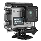 SJCAM SJ6 Legend 4K Action Camera 16MP/Dual Screen/2.0 Touchscreen/Gyro Stabilization/External Microphone,Remote Control Supported/Wifi Underwater Camera with Waterproof Case & Accessories-Silver