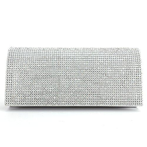 Bridal Classic Handbags (Trendy Shimmering Diamante Cover Clutch Purse Prom Night Out Bridal Lady Handbag)