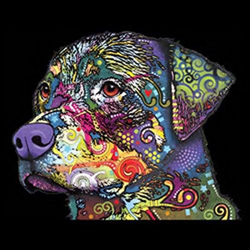 Rotti/Umhängetasche/Tasche-Vintagelook mit Dog-Neon-Druck: The Rottweiler für Hundefreunde