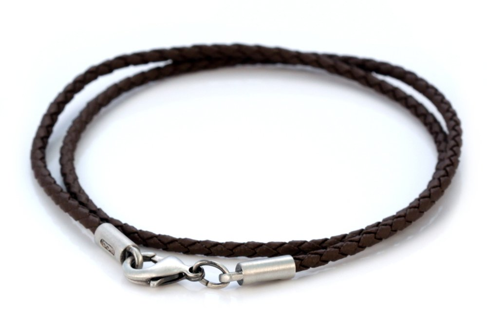 Bico 2mm (0.08 inch) Brown Braided Necklace 20 inch Long (CL12 Brown 20in) Tribal Street Jewelry
